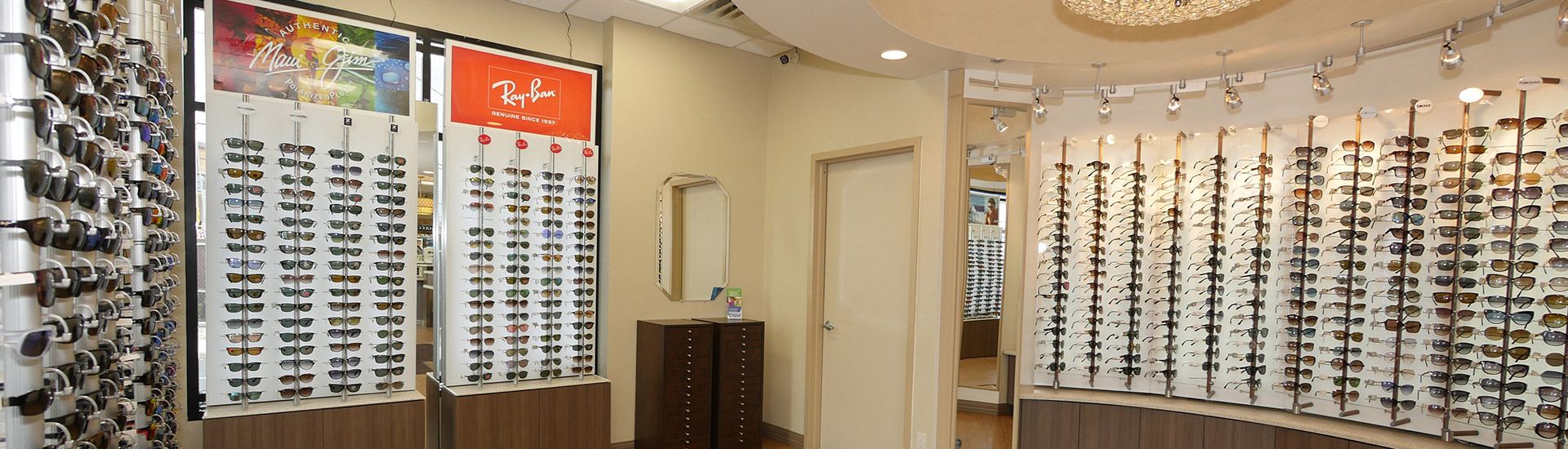 Display Of Eyeglasses